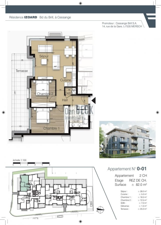acheter appartement 2 chambres 82.1 m² luxembourg photo 2