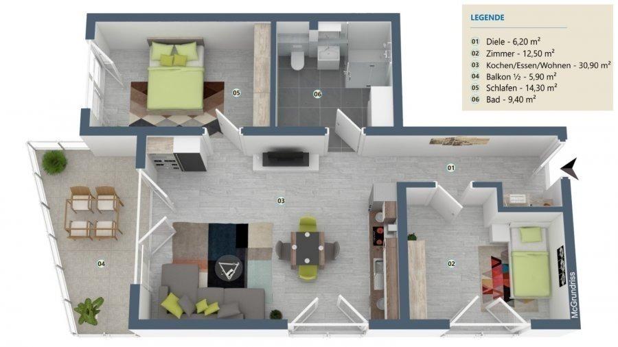 wohnung kaufen 2 zimmer 79.2 m² palzem foto 2