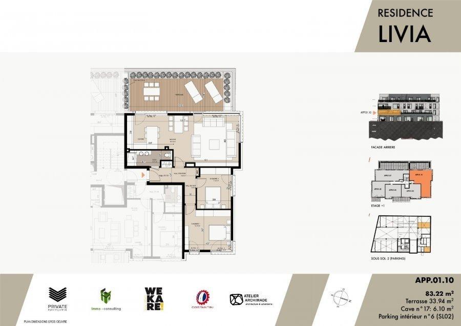 wohnung kaufen 2 schlafzimmer 95.4 m² luxembourg foto 3
