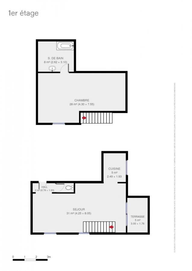 louer appartement 0 pièce 77 m² libin photo 7