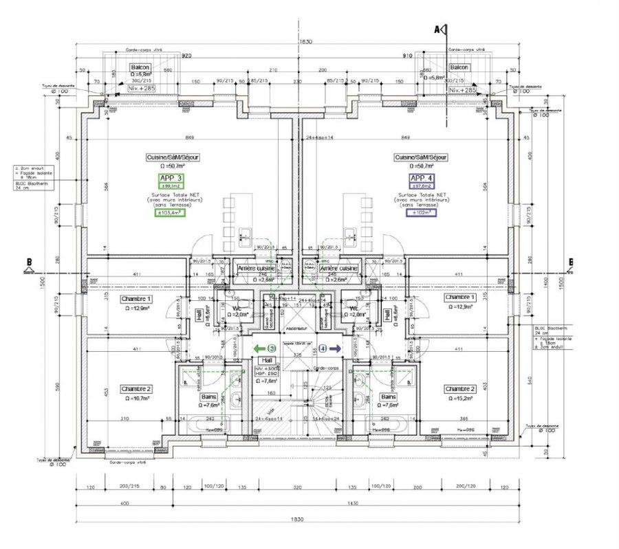 acheter appartement 2 chambres 101.4 m² brouch (mersch) photo 7