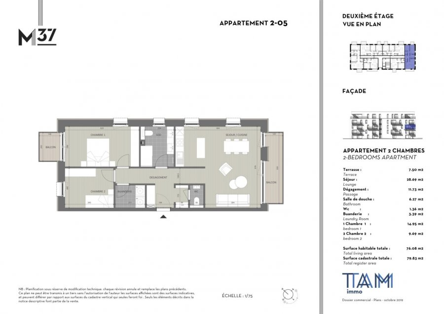 acheter appartement 2 chambres 76.08 m² luxembourg photo 2