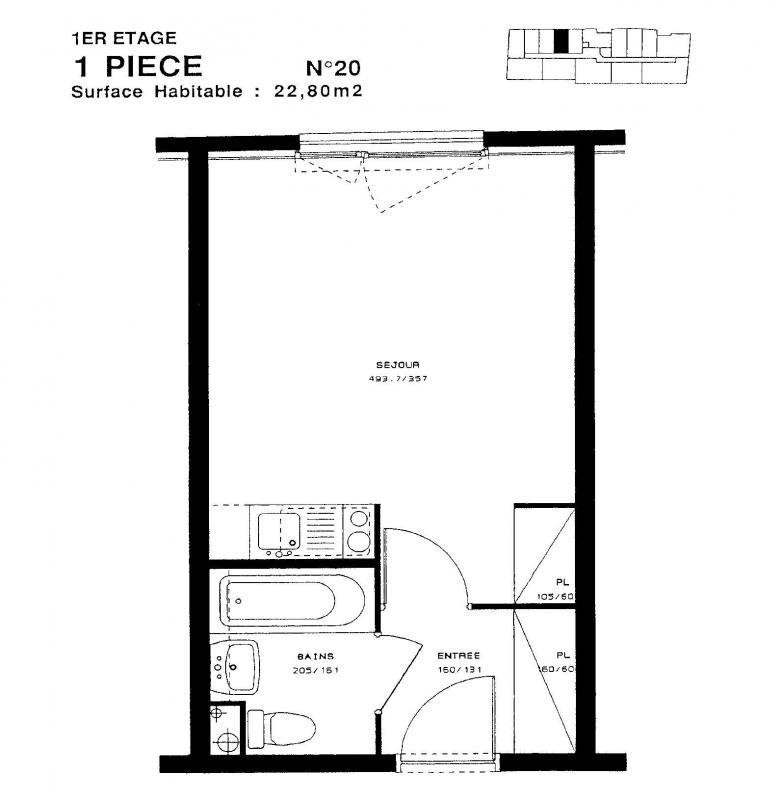 louer studio 1 pièce 22 m² nancy photo 2