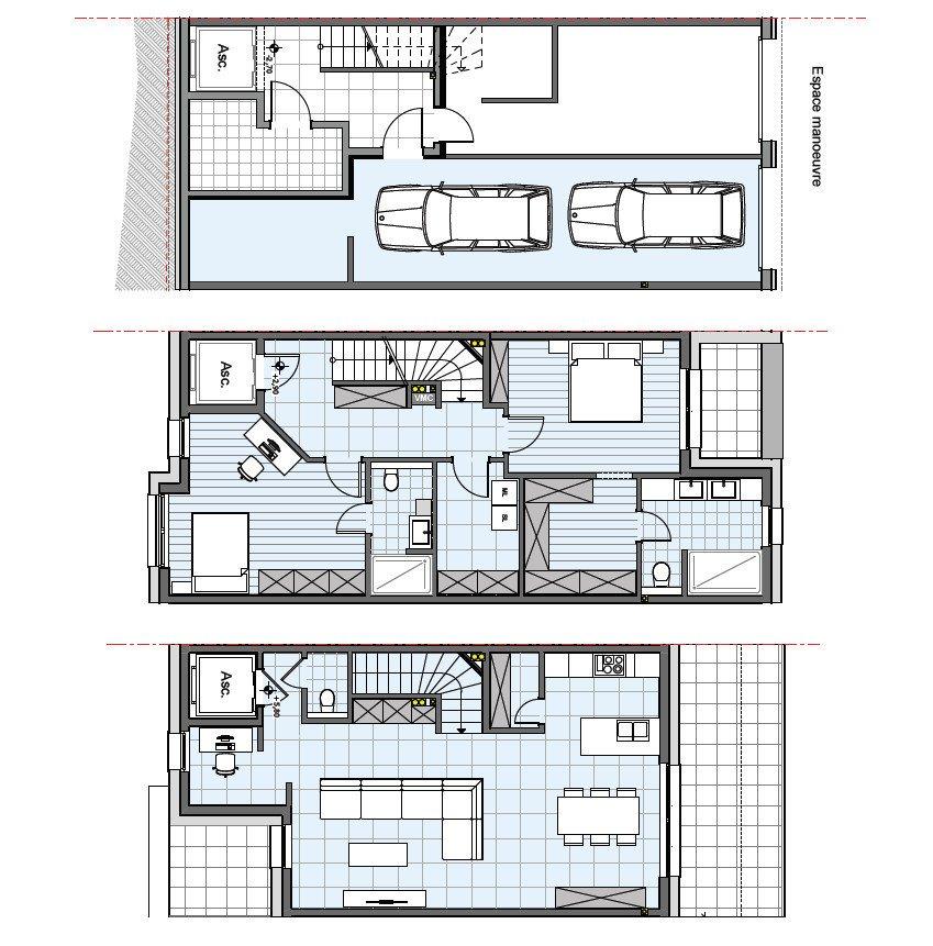 duplex for buy 3 bedrooms 138.85 m² dudelange photo 4