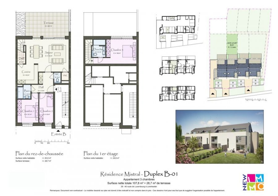 acheter résidence 0 chambre 96.45 à 106.03 m² lorentzweiler photo 6