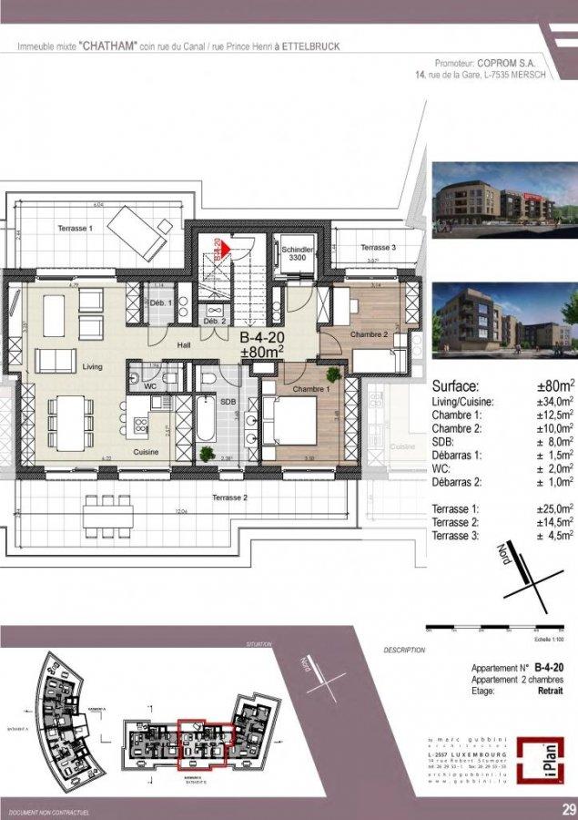 acheter appartement 2 chambres 80 m² ettelbruck photo 1