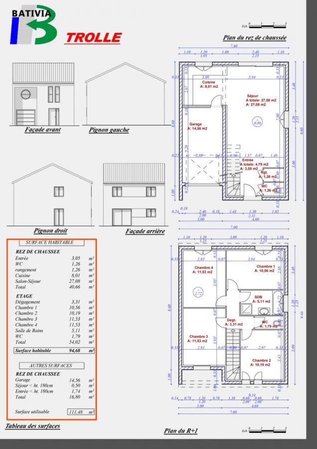 Maison individuelle à vendre F6 à les jardins de courcelles