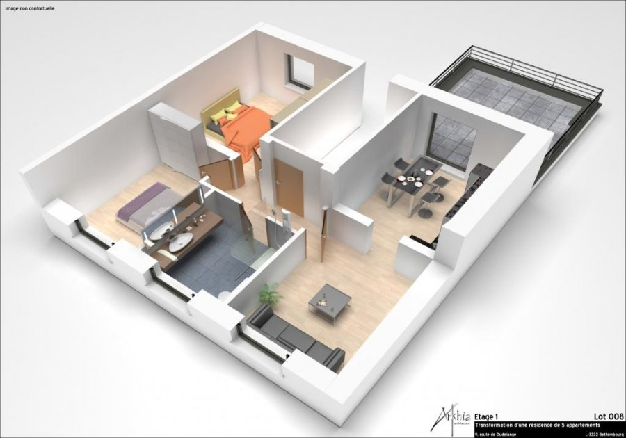 apartment for buy 2 bedrooms 82 m² bettembourg photo 1