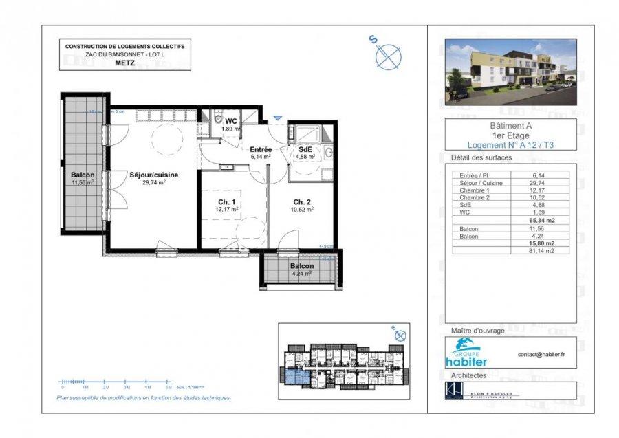 acheter appartement 3 pièces 65 m² metz photo 1