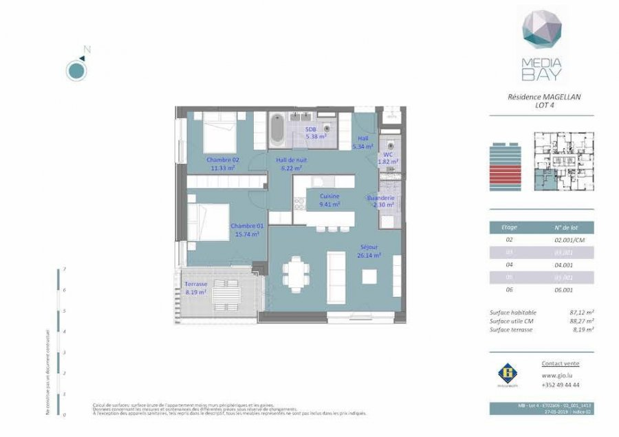 acheter appartement 2 chambres 87.12 m² luxembourg photo 4