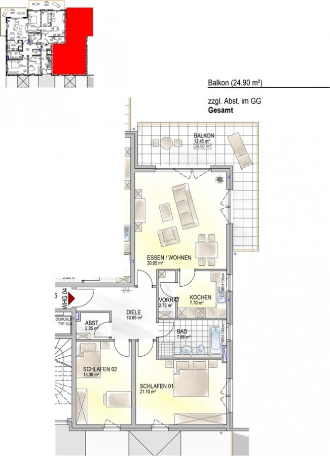 acheter appartement 0 pièce 111.89 m² perl photo 3
