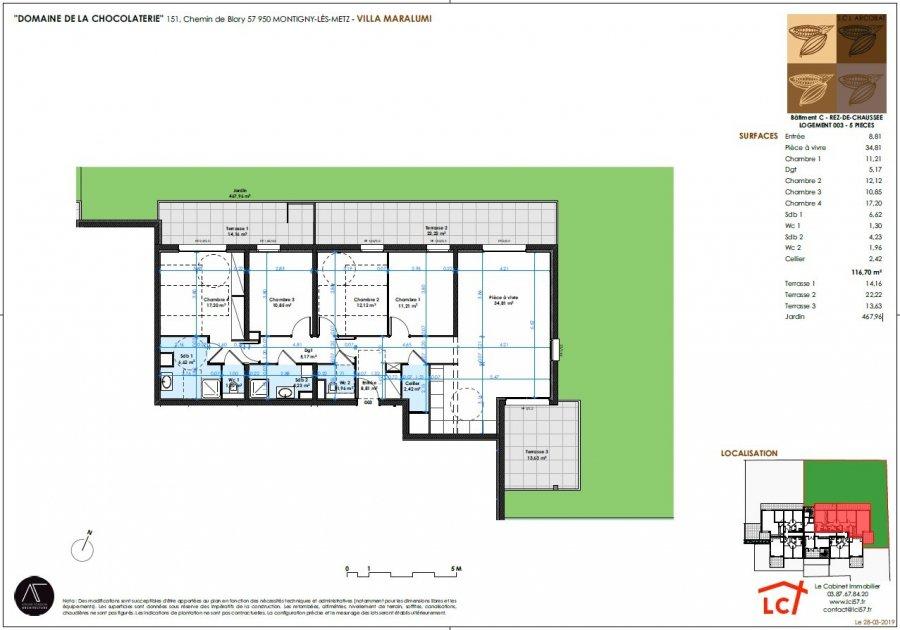 acheter appartement 5 pièces 116.7 m² montigny-lès-metz photo 4