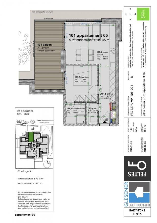 acheter appartement 1 chambre 49.45 m² strassen photo 4