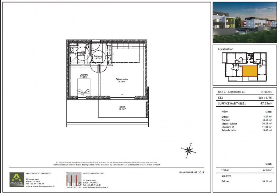 acheter appartement 2 pièces 48 m² audun-le-tiche photo 2