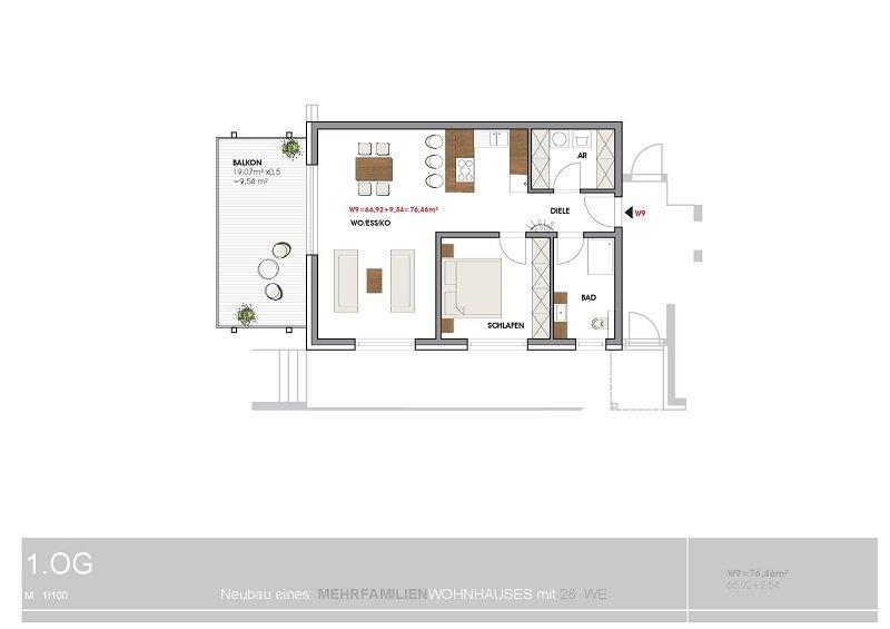 wohnung kaufen 2 zimmer 76.46 m² perl foto 2