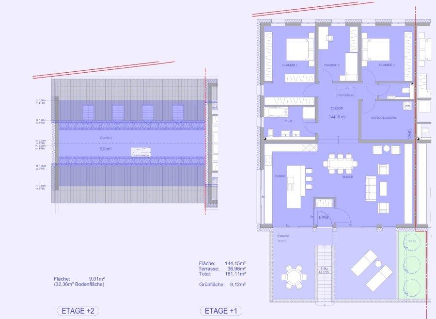 wohnung kaufen 3 schlafzimmer 157.24 m² niederanven foto 2
