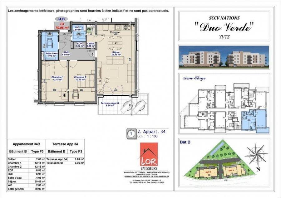 acheter appartement 3 pièces 70.96 m² yutz photo 4