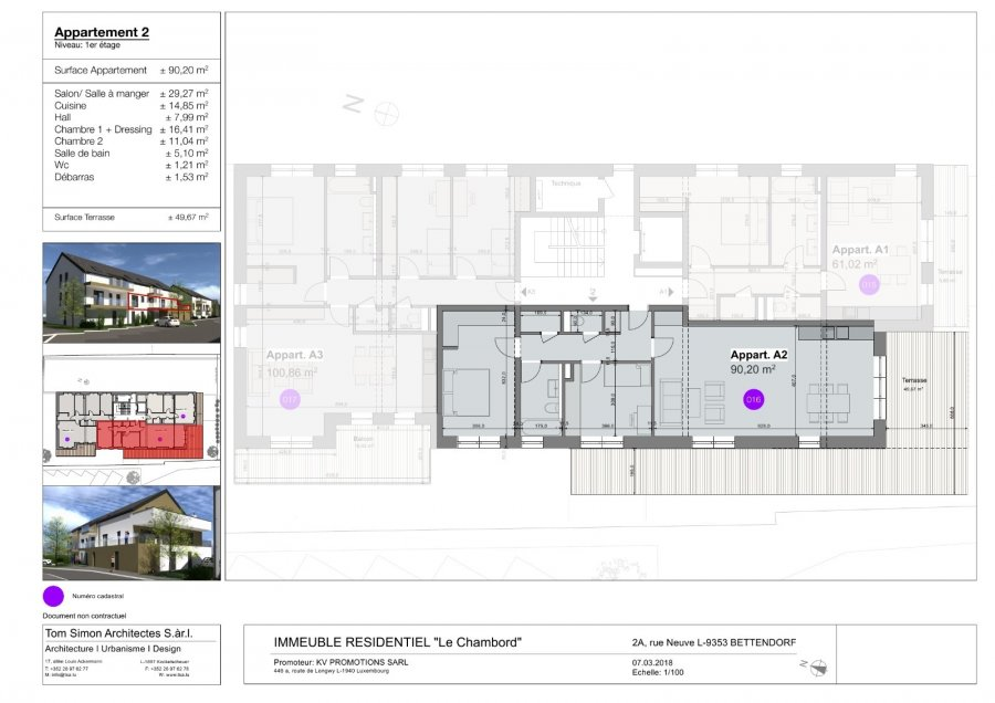 acheter appartement 2 chambres 105 m² bettendorf photo 2