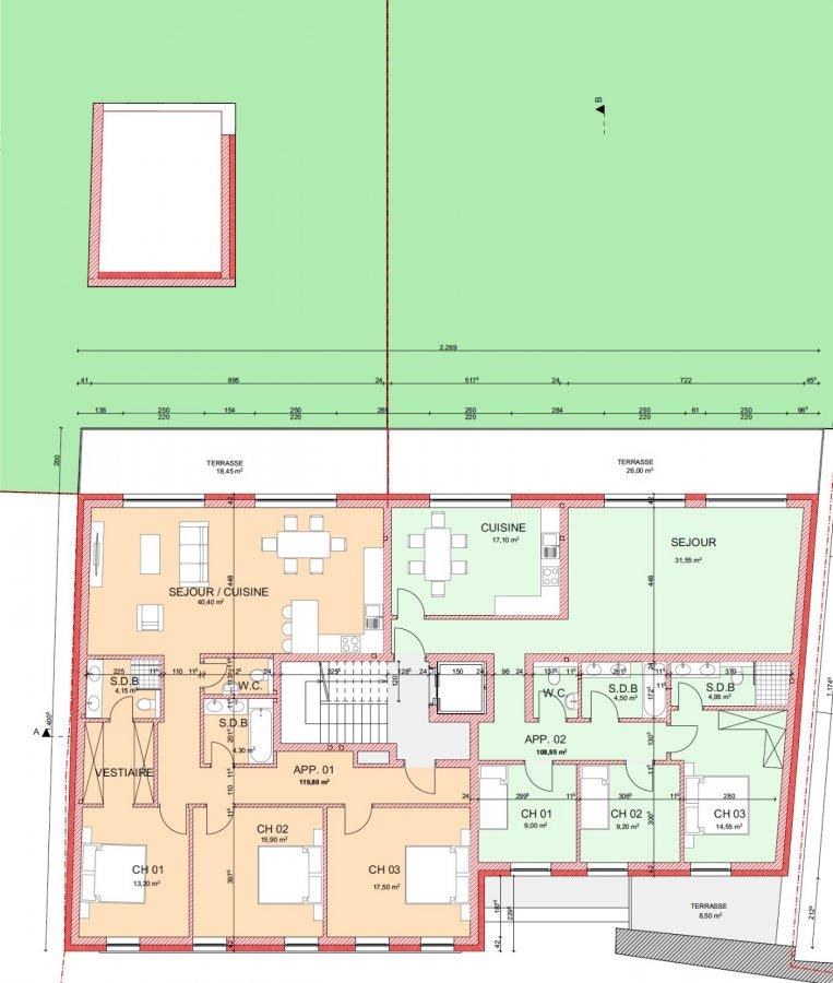 Appartement en vente remerschen 109 m 549 000 for Appartement acheter