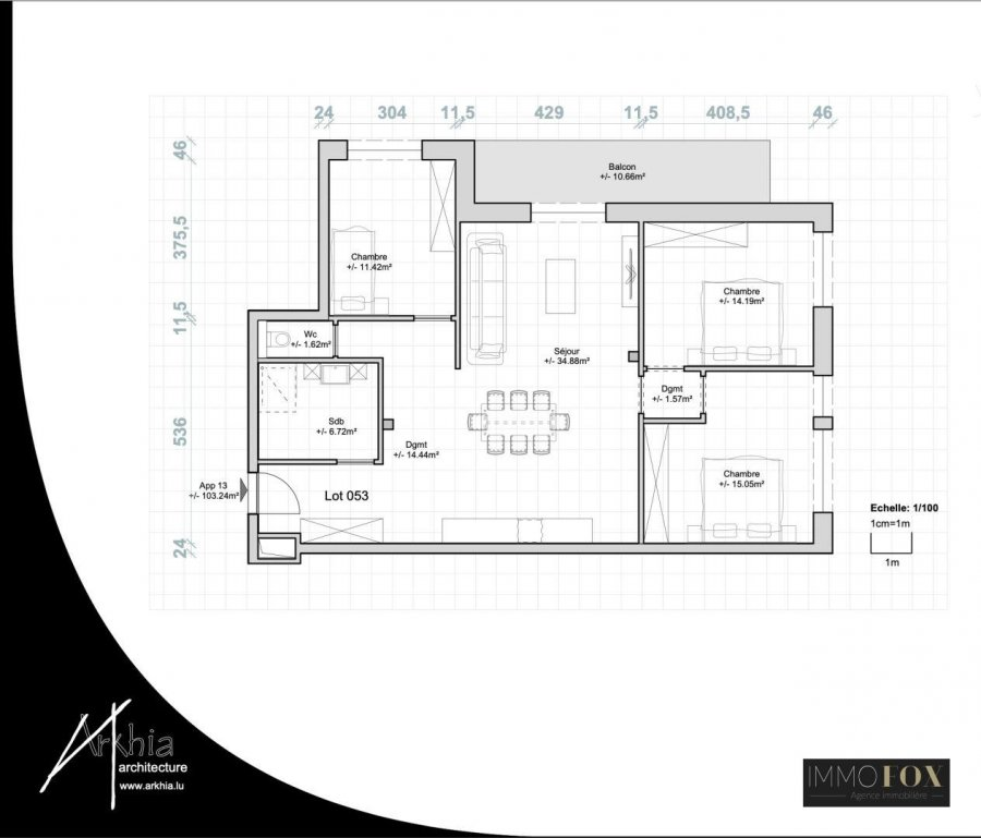 acheter appartement 3 chambres 108 m² rodange photo 4
