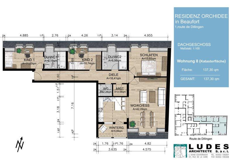 acheter appartement 3 chambres 137.3 m² beaufort photo 1