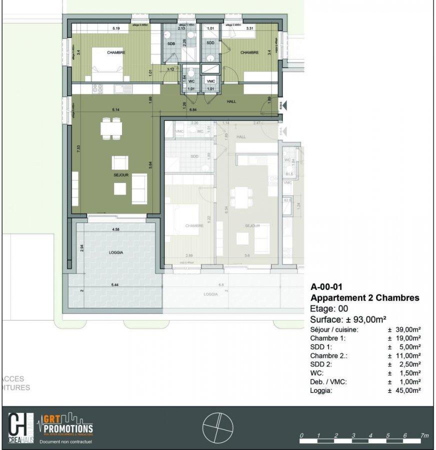 acheter appartement 2 chambres 92.76 m² bertrange photo 1