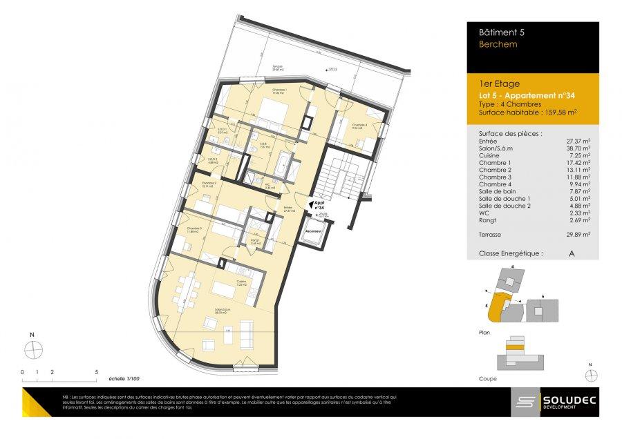 apartment for buy 4 bedrooms 159.58 m² berchem photo 1