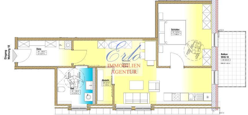 acheter appartement 2 pièces 69.86 m² zerf photo 2