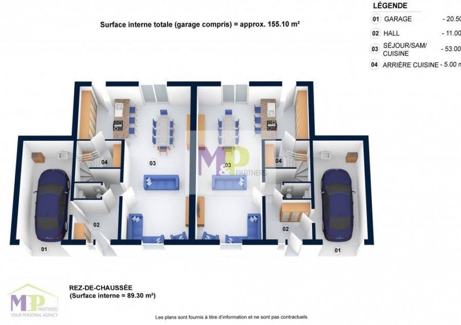 doppelhaushälfte kaufen 0 zimmer 135 m² arlon foto 2