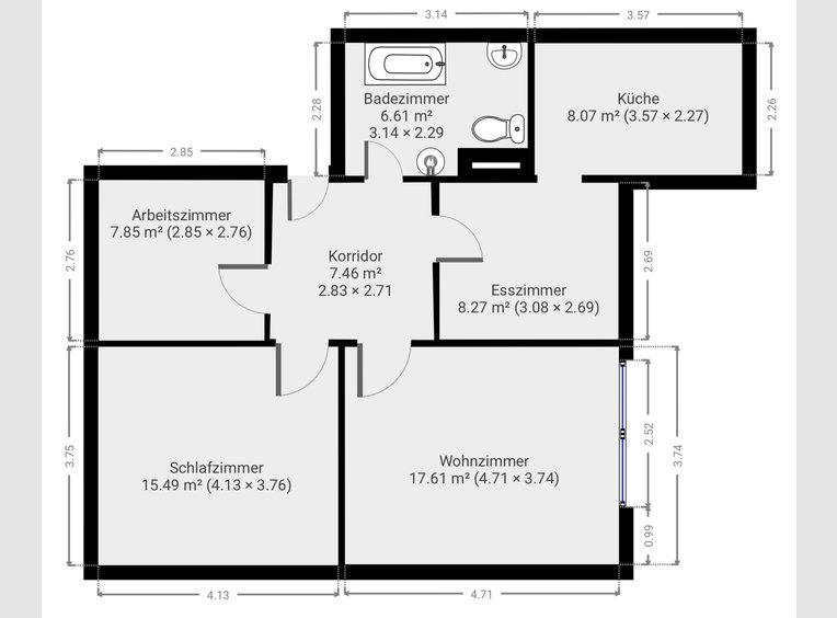 Wohnung zur Miete 3 Zimmer in Heusweiler (DE) - Ref. 7158171