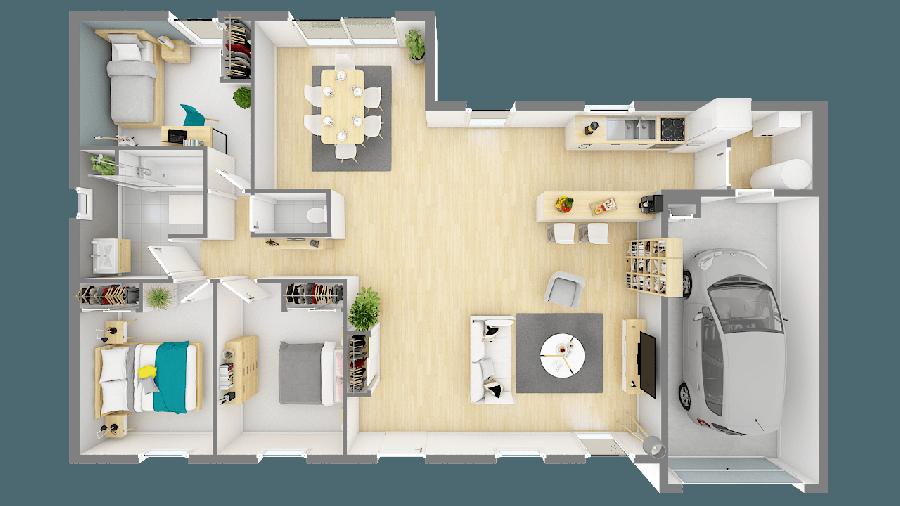 acheter maison 4 pièces 97 m² besné photo 7