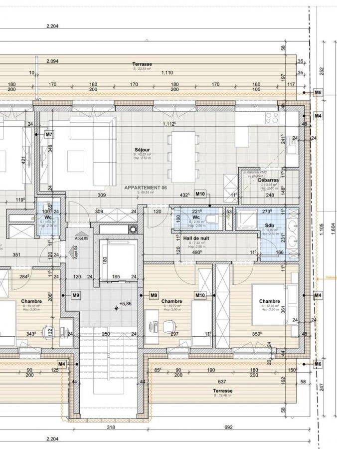 acheter appartement 2 chambres 86.83 m² leithum photo 2