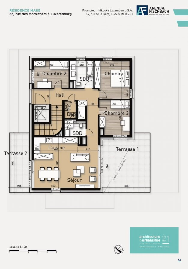 acheter penthouse 3 chambres 108.22 m² luxembourg photo 7