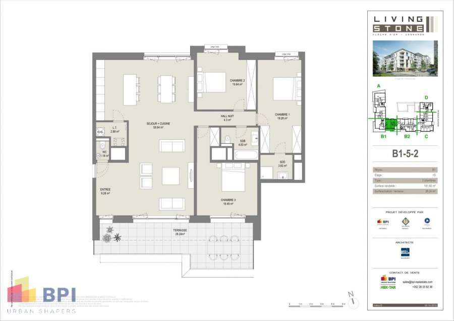 acheter appartement 3 chambres 152.39 m² luxembourg photo 2
