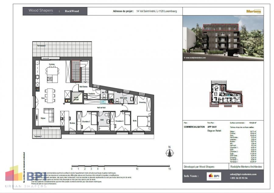 acheter penthouse 3 chambres 131 m² luxembourg photo 7