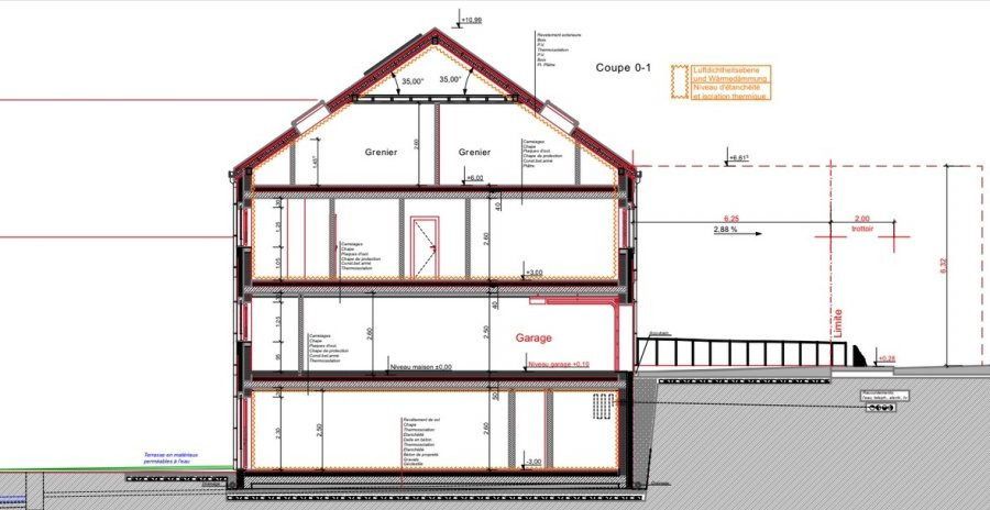 Maison mitoyenne à vendre 3 chambres à Deiffelt