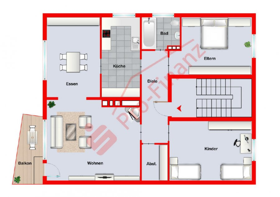 wohnung kaufen 4 zimmer 99 m² saarbrücken foto 1
