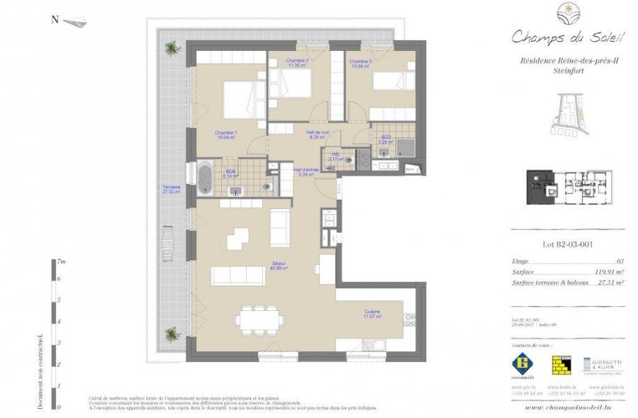 acheter appartement 3 chambres 121.29 m² steinfort photo 2