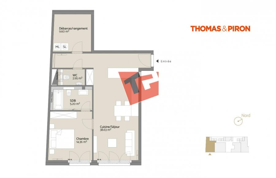 acheter appartement 1 chambre 73.11 m² luxembourg photo 1