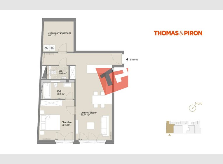Apartment for sale 1 bedroom in Luxembourg (LU) - Ref. 7109051