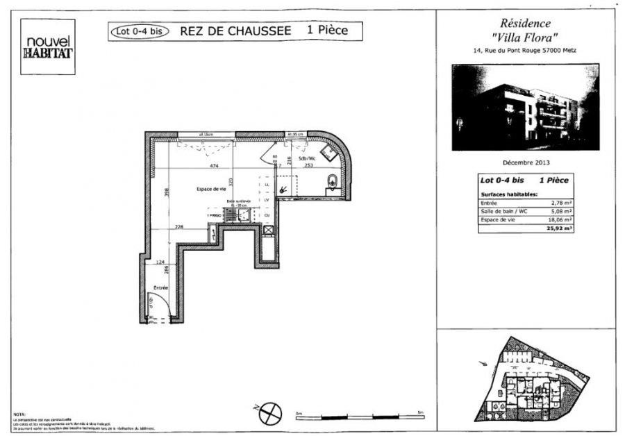 louer appartement 1 pièce 25.92 m² metz photo 7
