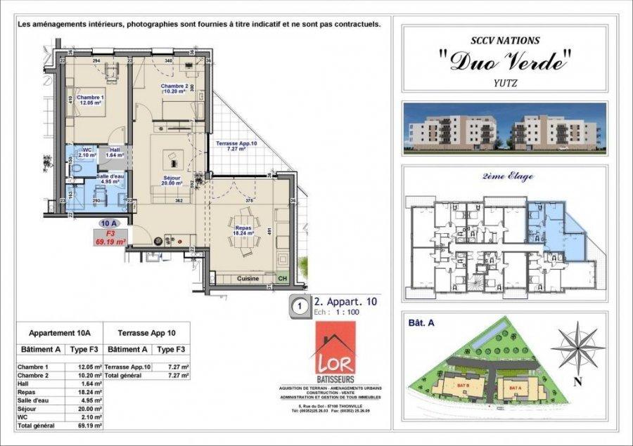 acheter appartement 3 pièces 69.19 m² yutz photo 4