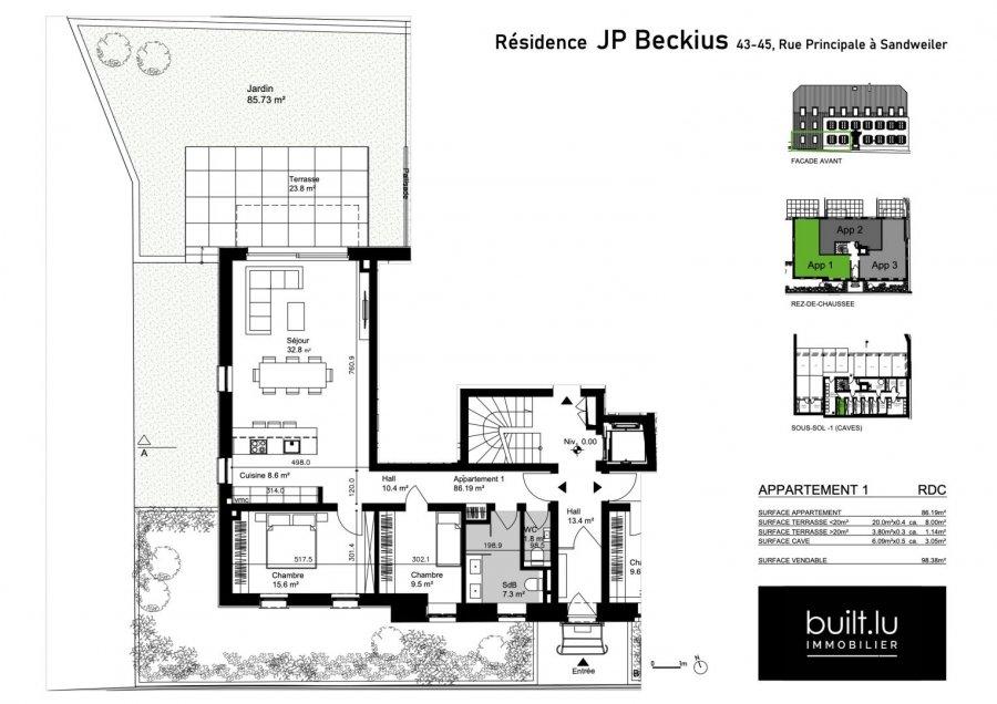 acheter appartement 2 chambres 86 m² sandweiler photo 3