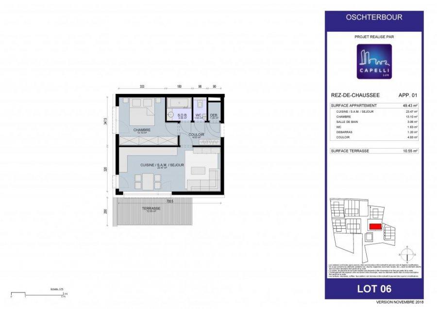 acheter appartement 1 chambre 49.43 m² differdange photo 6