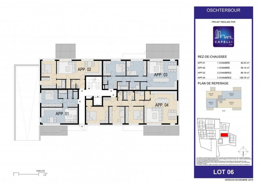 acheter appartement 1 chambre 49.43 m² differdange photo 7
