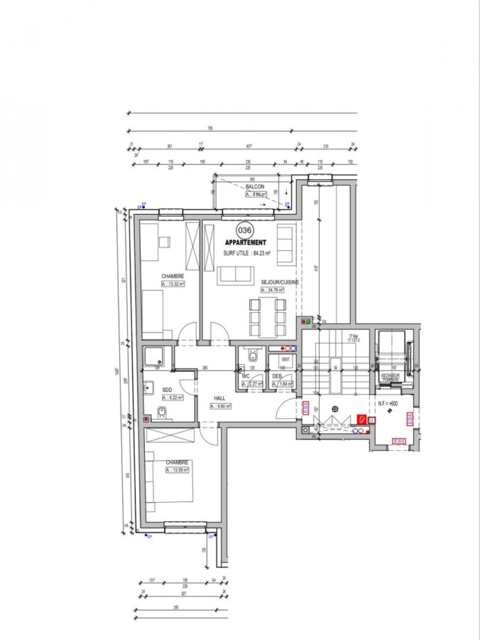 acheter appartement 2 chambres 84.23 m² schifflange photo 3