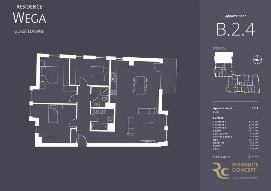 acheter appartement 3 chambres 124.5 m² gosseldange photo 2