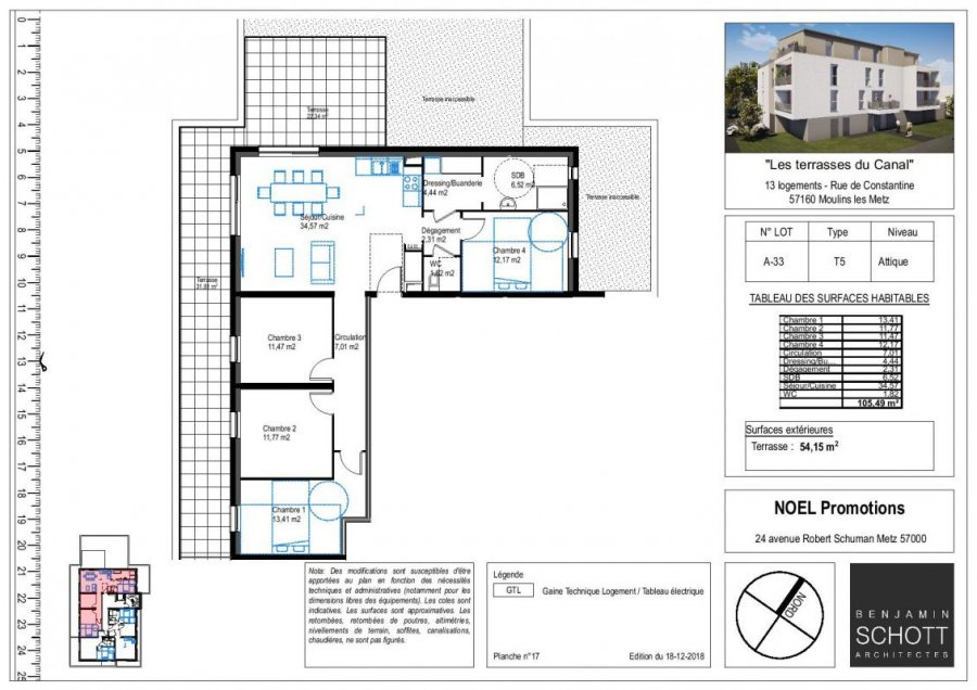 acheter appartement 5 pièces 43 m² moulins-lès-metz photo 1
