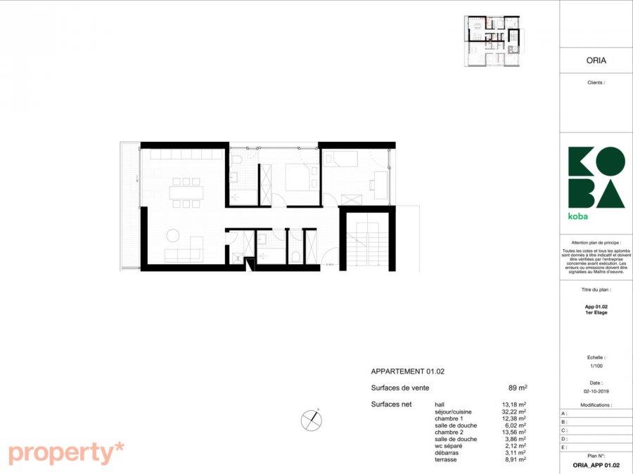 acheter appartement 2 chambres 89 m² bascharage photo 7