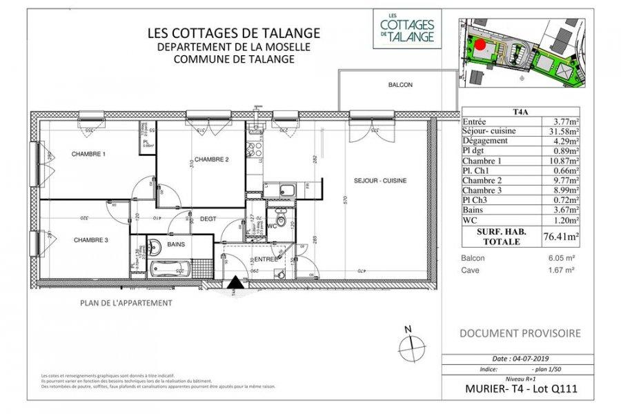acheter appartement 4 pièces 76 m² talange photo 4